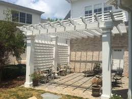 8 X 10 Pergola by Fiberglass Stock Collection Perfect Arbors