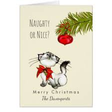 naughty or nice greeting cards zazzle