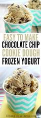 chocolate chip cookie dough frozen yogurt recipe easy dessert recipe