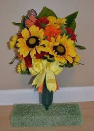 Graveside Flower Vases Winter Cemetery Headstone Saddle Cemetery Flowers Memorial Flowers