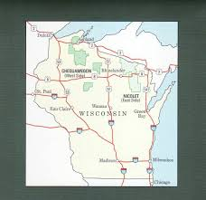 Hayward Wisconsin Map by Chequamegon Nicolet National Forest West Side