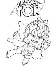 tree fu tom print colour abc kids