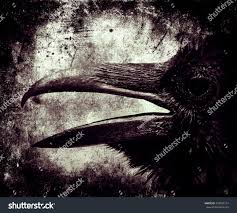 scary halloween photo background scary halloween grunge wallpaper crow head stock photo 473593714