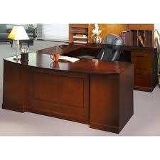 Cheap U Shaped Desk Mayline Sorrento Bow Front Right Handed U Shaped Desk In Bourbon