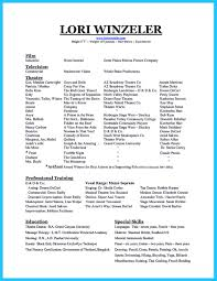 Resume For College Application Example Classical Singer Resume Resume For Your Job Application