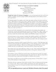 Thank You Letter Veterans 30 images of veterans thank you letter template infovia net