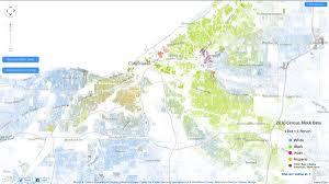 map of cleveland racial map of cleveland cleveland localwiki
