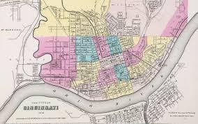 Map Cincinnati Daguerreotype View Of Cincinnati
