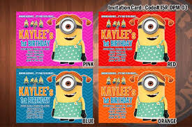 personalized minion despicable me printable birthday party