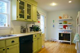 remodelaholic kitchen with green cabinets