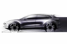 range rover sketch porsche cayenne teaser sketch reveals new suv u0027s profile motor trend
