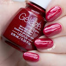 china glaze gelaze u2013 reds oranges