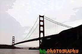 travel locations california golden gate bridge digital paintings