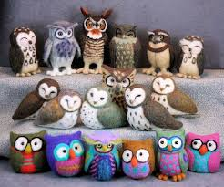 whoo gives a hoot needle felted owls with jeanne harlan marriott