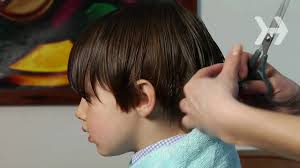 cutting boy hair with scissors how to cut a boy s hair youtube