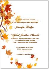 fall wedding invitations fall wedding invitation kits printable diy stationery templates