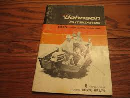 1975 johnson 6 hp 6r75 6rl75 owners manual eba240 13 00