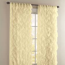 Vertical Ruffle Curtains by Cascade Rod Pocket Curtain Brylanehome