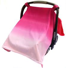 cora canap baby car seat canopy to light pink ombre and coral minky 2 in 1