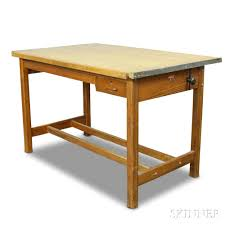 Hamilton Drafting Table Large Hamilton Oak And Maple Drafting Table Sale Number 2967t
