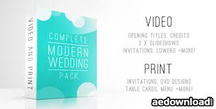 complete modern wedding pack free download videohive free