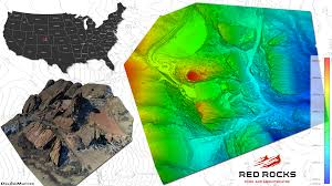 Colorado Elevation Map by Red Rocks Amphitheater Colorado Drone Map U0026 Digital Elevation