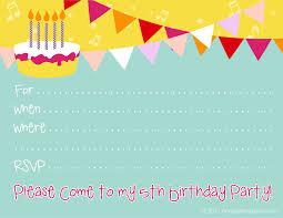 Unique Birthday Invitation Cards Free Birthday Invitation Templates Redwolfblog Com