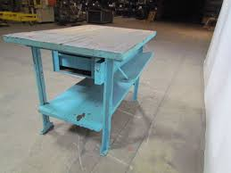 butcher block workbench industrial table kitchen island 48