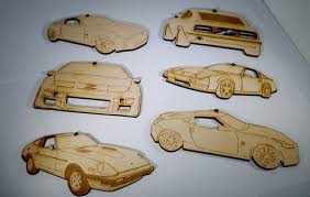zspec laser engraved cut ornaments for corvette c7 enthusiasts