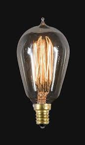 antique style filament light bulbs candelabra base e12