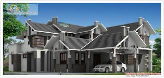 Luxury Home Design Kerala Unique Sloping Roof Luxury Home Kerala Home Design And Floor Plans