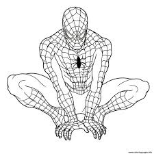 spider man coloring pages spiderman 2 superhero amazing sheets