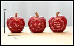Food Decoration For New Year by Online Shop Elimelim 3 Pieces Set Kawaii Ornaments Apple Resin
