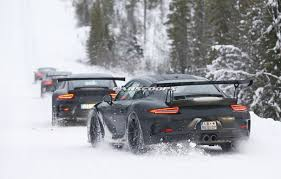 porsche winter new porsche 911 gt3 rs spied dancing in the snow