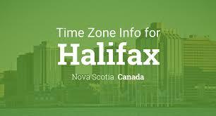 Time Difference Map Daylight Saving Time Dates For Canada U2013 Nova Scotia U2013 Halifax