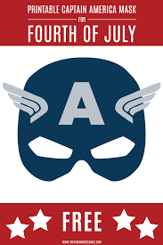 printable captain american mask delight