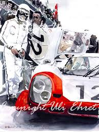 porsche racing poster porsche 917 lh n 12 1969 white red on canvas limited edition uli