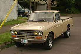 datsun nissan truck old parked cars 1970 datsun 1300