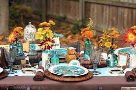 Fall Table Settings Fall Eclectic Table Setting Ideas Celebrations At Home