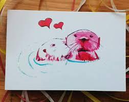 otter card etsy