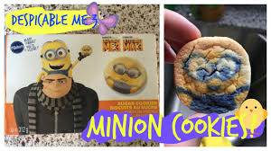 pillsbury halloween sugar cookies despicable me 3 minion shaped sugar cookies how to make diy