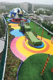 playground design moneo brock transforms an underutilized hospital rooftop in madrid