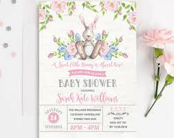 rabbit invitation bunny baby shower invitation rabbit baby shower invite baby