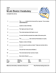 basic music theory worksheets for home schooling