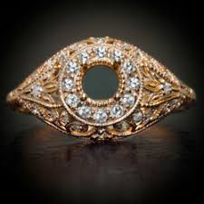 art deco ring mounts online