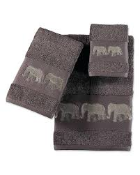 Elephant Bathroom Decor Elephant Bathroom Decor Embroidered Elephant Towel Collection
