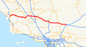 Cal State Map by California State Route 58 Wikipedia