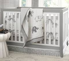 Gray Baby Crib Bedding Baby Bedding Set Pottery Barn