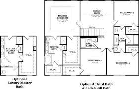 jack jill bathroom lovely 4 bedroom house plan with jack and jill bathroom ahomeplan