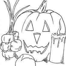 scary carved pumpkin coloring pages hellokids
